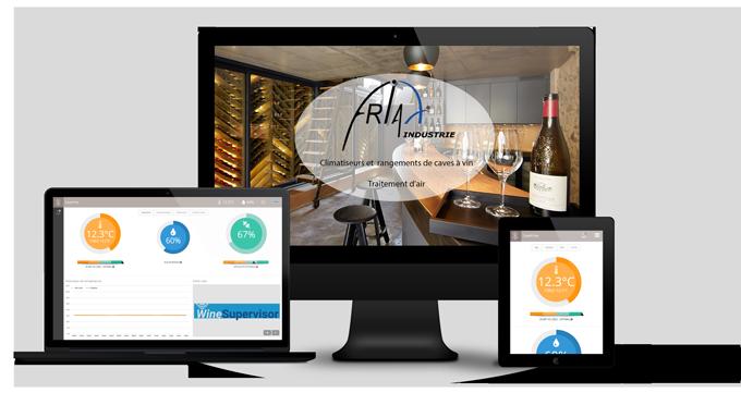climatiseur de cave à vin connecté winesupervisor friax industrie